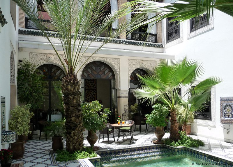 riad monceau small luxury hotel in marrakech. Black Bedroom Furniture Sets. Home Design Ideas