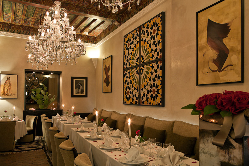 Riad monceau restaurants enjoy moroccan gastro or bistro - Decoration cuisine marocaine photos ...