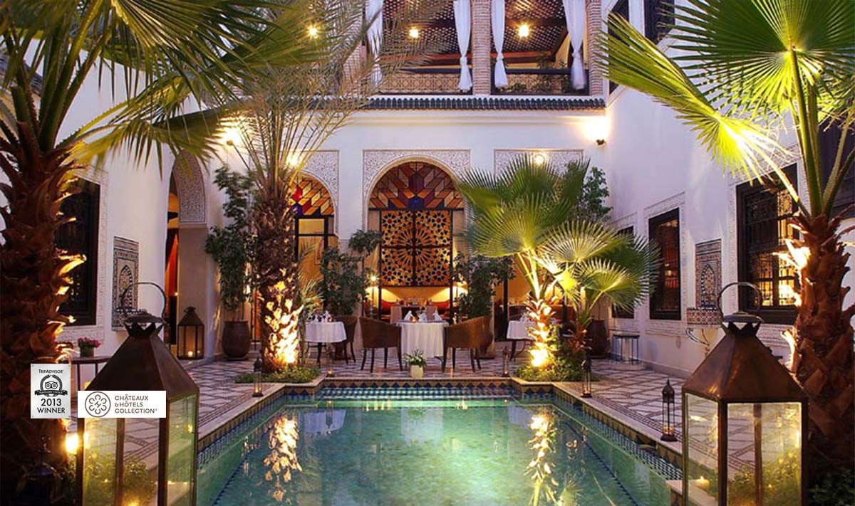 Riad monceau small luxury hotel in marrakech for Hotel design marrakech