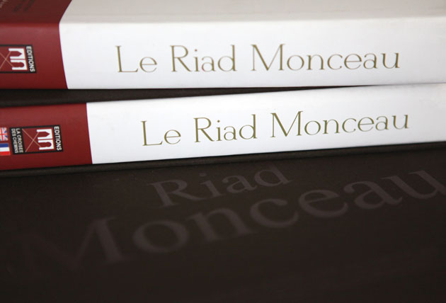 Details of Riad Monceau's book side