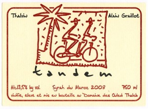 Blog of the best Moroccan wines - Tandem red wine - Alain Graillot